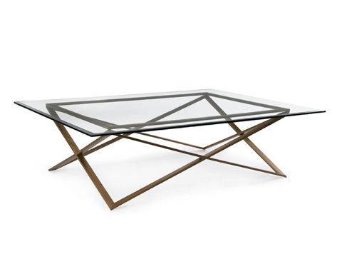 John Richard Collection - Glass and Brass Coffee Table - JFD-0049