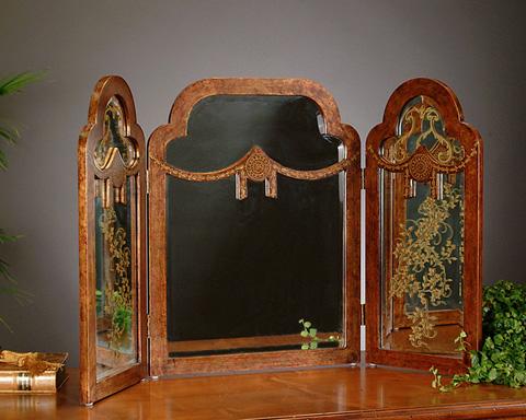 John Richard Collection - Three Panel Wooden Mirror - JRA-5433