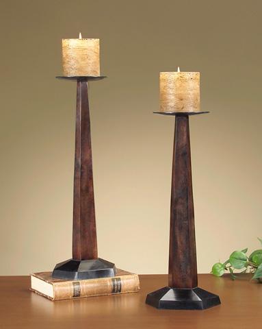 John Richard Collection - Wood Block Candlestick - JRA-6310
