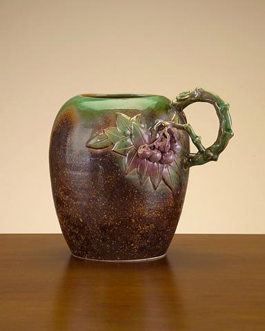 John Richard Collection - Porcelain Container with Fruit Design - JRA-7608
