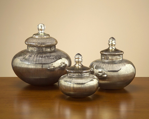 John Richard Collection - Mercury Glass Containers - JRA-7807S3