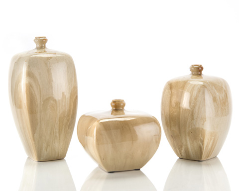 John Richard Collection - Fauz Alabaster Vase Set - JRA-8060S3