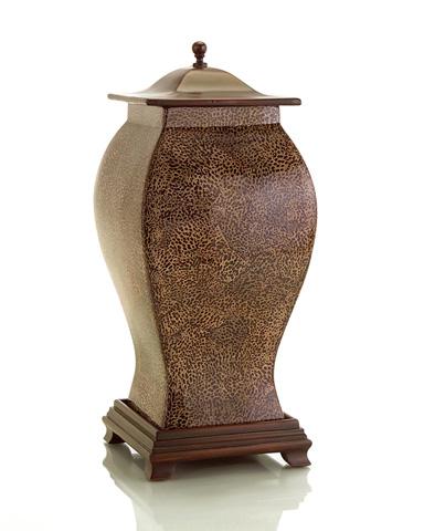 John Richard Collection - Inlay Eggshell Lidded Vase - JRA-8180