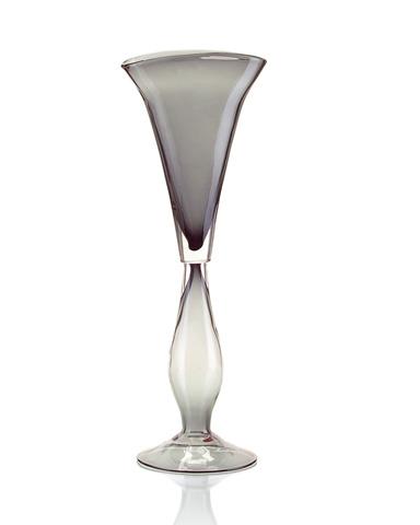 John Richard Collection - Smoked Glass V Shaped Vase - JRA-8353