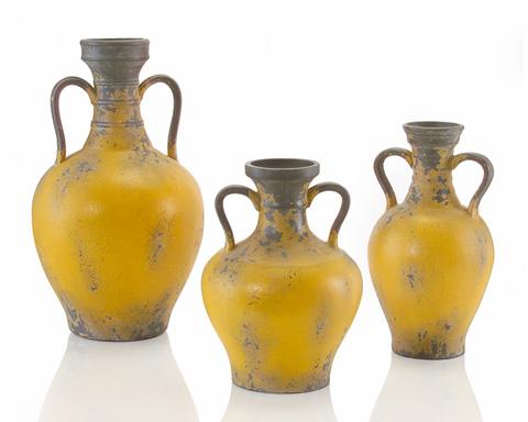 John Richard Collection - Yellow Tuscan Pottery Urn - JRA-8535