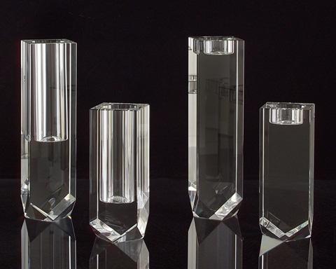 John Richard Collection - Optical Glass Diamond Cut Candle Holder - JRA-8556S2