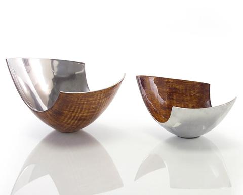 John Richard Collection - Brushed Carmel Enamel Bowls - JRA-8593S2