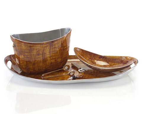 John Richard Collection - Brushed Carmel Enamel Bar Set - JRA-8604S6