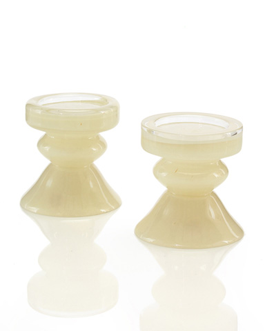 John Richard Collection - Short Glass Candle Holder - JRA-8626S2