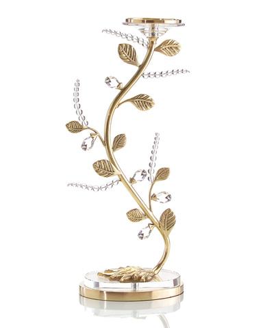 John Richard Collection - Crystal Vine Candle Holder - JRA-8709