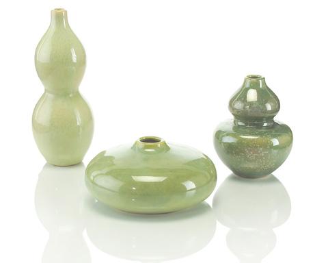 John Richard Collection - Garden Green Petite Ceramic Jars - JRA-8748S3