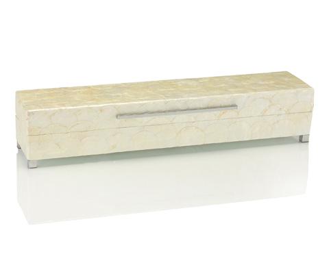 John Richard Collection - Long White Capiz Shell Box - JRA-8756