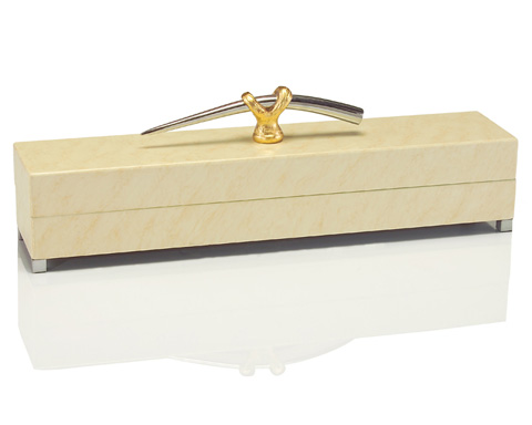 John Richard Collection - Cream Box with Handles - JRA-8758