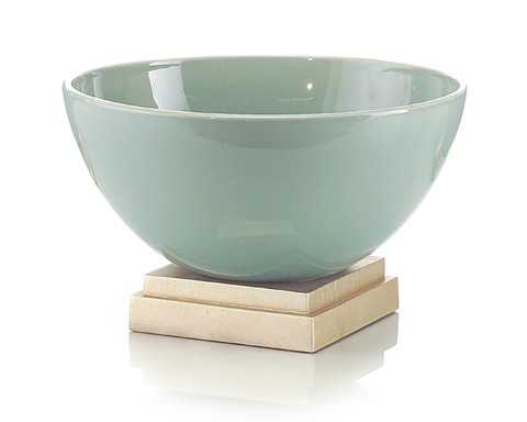 John Richard Collection - Sea Green Ceramic Bowl on Base - JRA-8776
