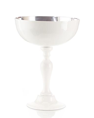 John Richard Collection - White Enamel Compote - JRA-8814