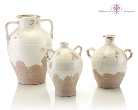 John Richard Collection - White Over Gray Clay Jars - JRA-8840S3
