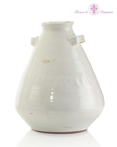 John Richard Collection - White Lekythos Inspired Jar - JRA-8841