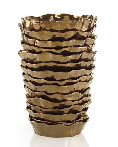 John Richard Collection - Ruffled Metallic Vase - JRA-8906