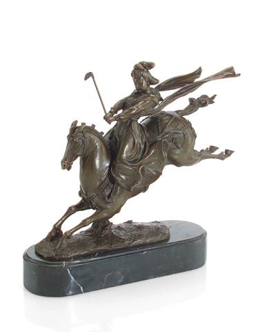 John Richard Collection - Royal Woman Polo Player Leap - JRA-8935
