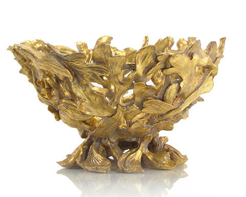 John Richard Collection - Antique Gold Twisted Briars Compote - JRA-8954