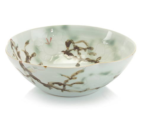 John Richard Collection - Medium Curled Rim Porcelain Bowl - JRA-9025