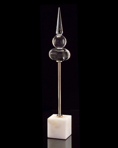 John Richard Collection - Alice Crystal Alabaster Spire - JRA-9096