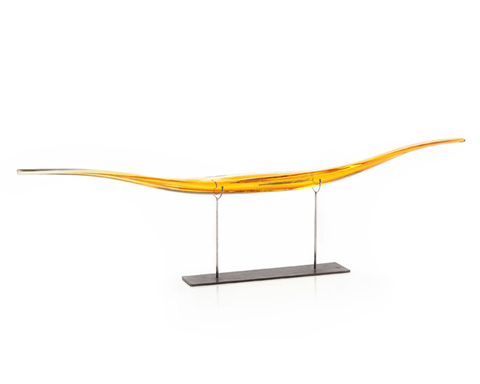 John Richard Collection - Gold Hand Formed Glass on Stand - JRA-9155