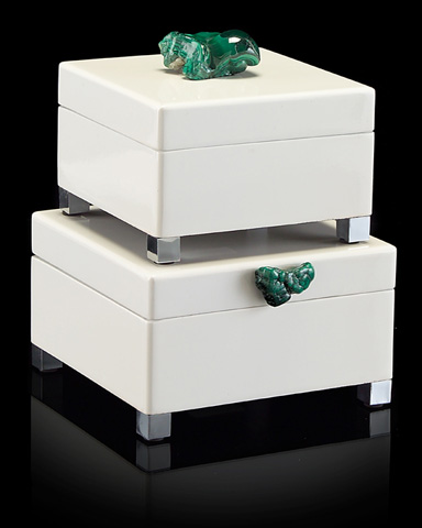 John Richard Collection - White Lacquered Boxes - JRA-9182S2