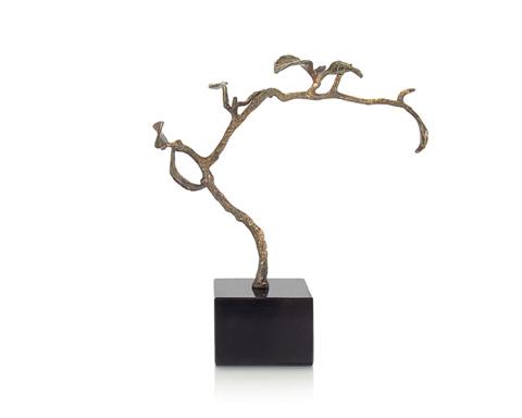 John Richard Collection - Verdi Swaying Twig with Black Base - JRA-9204