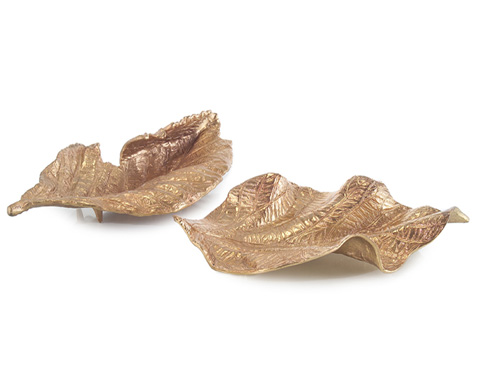 John Richard Collection - Brass Plated Cast Curling Leaves - JRA-9232S2