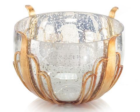 John Richard Collection - Mercury Glass Bowl - JRA-9255
