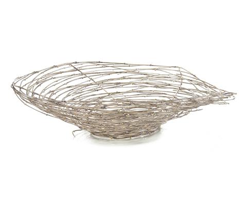 John Richard Collection - Silver Swirling Twigs Basket - JRA-9290
