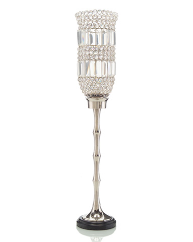 John Richard Collection - Crystal and Silver Candlestick - JRA-9293