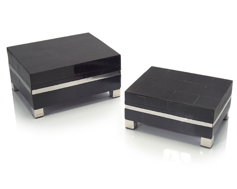 John Richard Collection - Black Horn and Nickel Boxes Set - JRA-9312S2