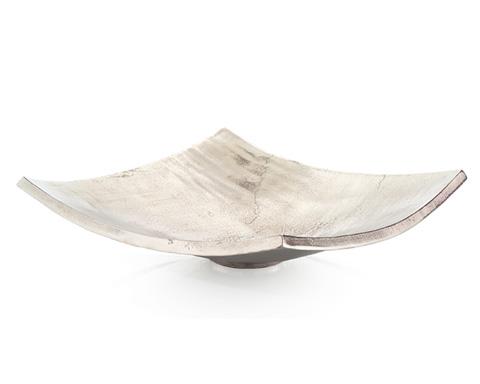 John Richard Collection - Square Polished Nickel Bowl - JRA-9328
