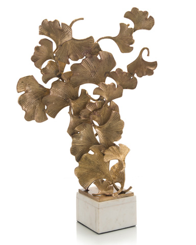 John Richard Collection - Floating Ginkgo Leaves - JRA-9404