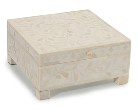 John Richard Collection - White and Cream Bone Box - JRA-9509