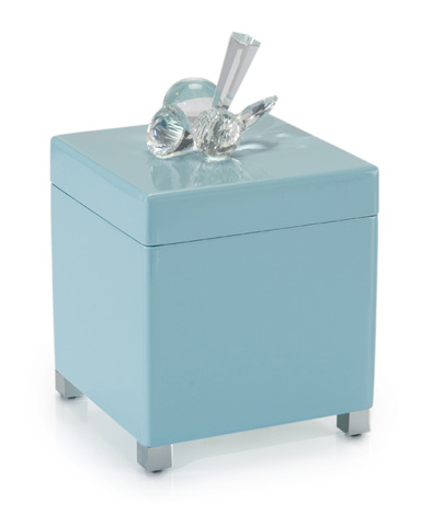 John Richard Collection - Crystal Encrusted Powder Blue Box - JRA-9612