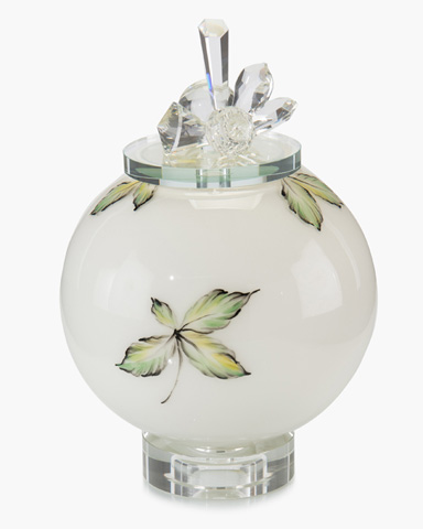 John Richard Collection - Flower Impressions Hand Painted Bottle - JRA-9613