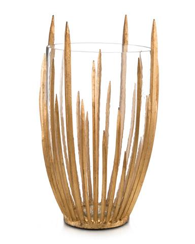 Gold Star Struck Vase