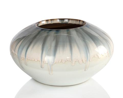 John Richard Collection - Dreamy Blue and Cream Vase - JRA-9752