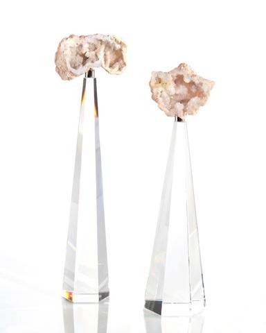 John Richard Collection - Cream Toned Geode on Crystal - JRA-9783S2