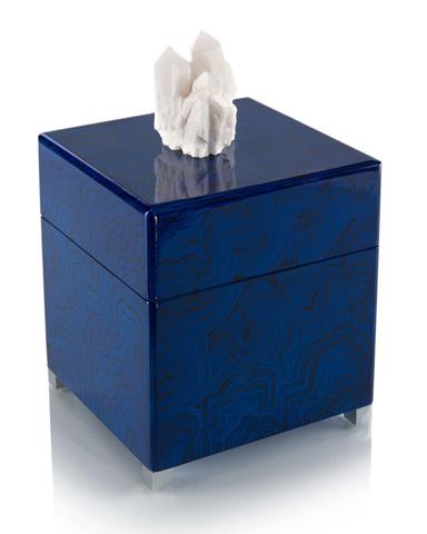 John Richard Collection - Indigo Blue Box with Quartz Accents - JRA-9863
