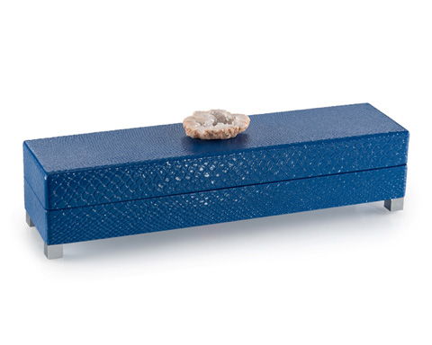 John Richard Collection - Indigo Blue Box with Stone Accent - JRA-9867