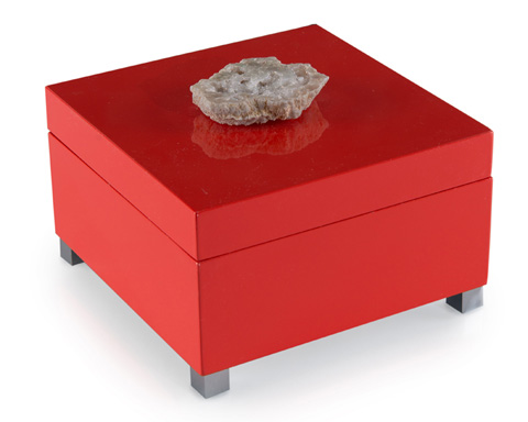 John Richard Collection - Coral Box with Stone Accent - JRA-9870