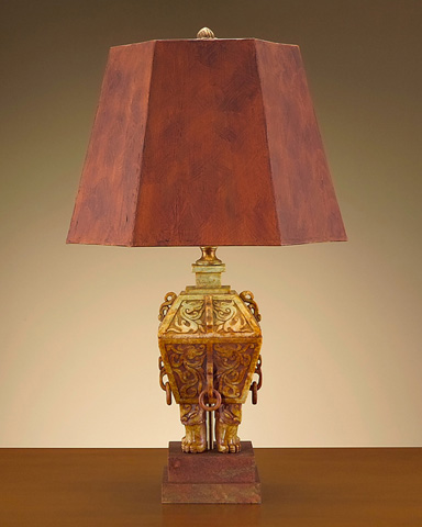 John Richard Collection - Soapstone and Wood Lamp - JRL-7276