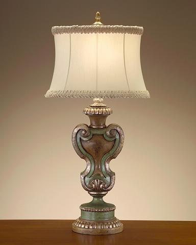 John Richard Collection - Silvered Celadon Shield Lamp - JRL-7898