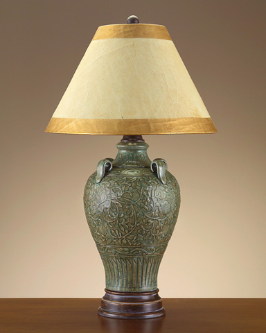 John Richard Collection - Vintage Blue Tuscan Garden Urn Lamp - JRL-7909