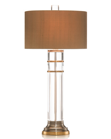 John Richard Collection - Oval Crystal Cylinder Lamp - JRL-8013