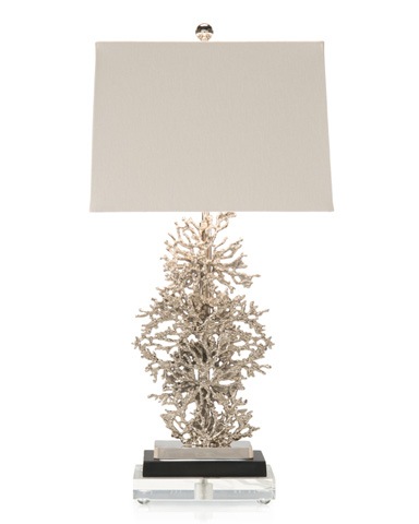 John Richard Collection - Silver Plated Coral Lamp - JRL-8260
